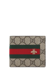 Gucci Gg Supreme And Web Classic Wallet