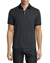 Original Penguin Diamond Print Short Sleeve Polo Shirt Black