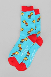 Urban Outfitters Bart Mooning Sock Turquoise