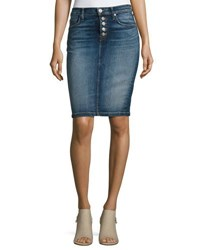 Hudson Helena High Rise Denim Pencil Skirt Indigo