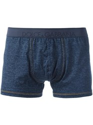 Dolce And Gabbana Underwear Classic Boxer Shorts Blue