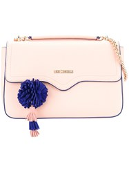 Love Moschino Pompom Detail Satchel Pink And Purple