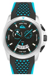 Men's Quiksilver 'The Guide' Multifunction Silicone Strap Watch 44Mm