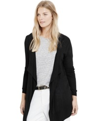 Violeta By Mango Plus Size Open Front Cardigan Black