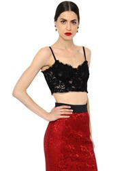 Dolce And Gabbana Corset Style Lace Crop Top