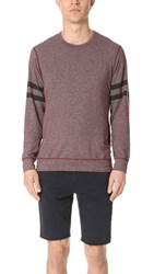 Splendid Mills Graphic Crew Neck Sweatshirt Brick Dust