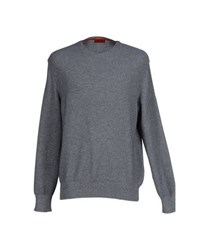 Isaia Knitwear Jumpers Men Grey