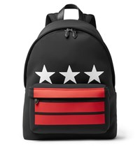 Givenchy Leather Trimmed Neoprene Backpack Black
