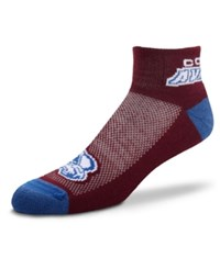 For Bare Feet Colorado Avalanche The Cuff Ankle Socks Maroon