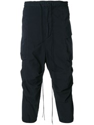The Viridi Anne Cropped Cargo Trousers Black
