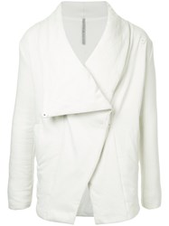 First Aid To The Injured Shawl Collar Jacket Unisex Cotton White