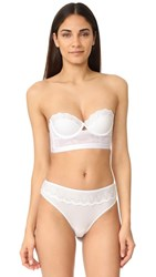 Cosabella Constance Cropped Bustier White