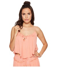 Bishop Young Coastal Crop Top Coral Women's Clothing
