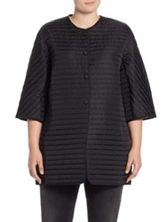 Marina Rinaldi Plus Size Pablo Quilted Jacket Black