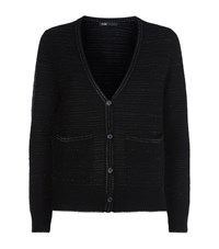 Maje Matador Lurex Knit Cardigan Female Black