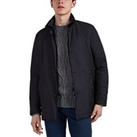 Moorer Bernini Tech Twill Coat Blue