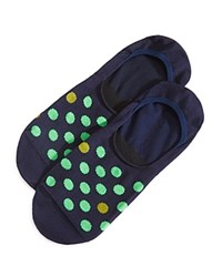 Paul Smith Neon Spot No Show Socks Navy
