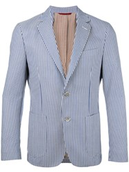 Fay Striped Blazer Blue