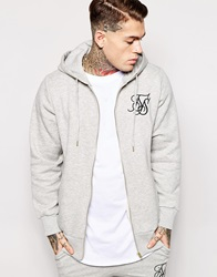 Sik Silk Siksilk Longline Zip Up Hoodie Grey