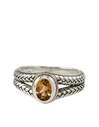 Effy Balissima Sterling Silver And 18Kt. Yellow Gold Ring With Citrine Stone