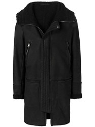 Salvatore Santoro Lined Hooded Coat Black