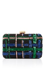 Elie Saab Embroidered Clutch Black