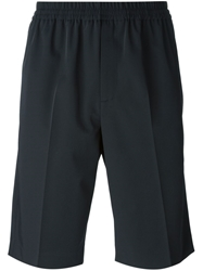 Carven Elasticated Waistband Tailored Shorts Blue