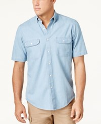 Club Room Men's Two Pocket Chambray Shirt Created For Macy's Light Chambray