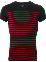 Jean Paul Gaultier Vintage Ribbed T Shirt Black