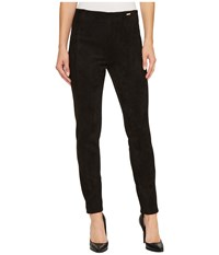 Ivanka Trump Faux Suede Pull On Pants Black Casual Pants