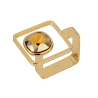 Nadia Minkoff Square Frame Ring Golden Shadow