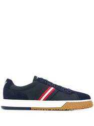 Emporio Armani Stripe Panel Sneakers Blue