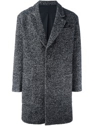 Ami Alexandre Mattiussi Tweed Coat Black