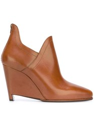 Maison Martin Margiela Wedge Ankle Boots Brown
