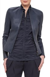 Women's Akris Punto Lambskin Leather Jacket