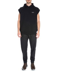 Givenchy Sleeveless Hooded Pullover Sweater Black