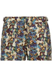 Orlebar Brown Printed Shell Shorts Beige