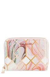 Ted Baker London Small Sea Of Clouds Coin Purse White