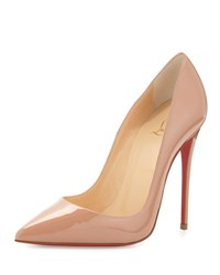 Christian Louboutin So Kate Patent Red Sole Pump Beige