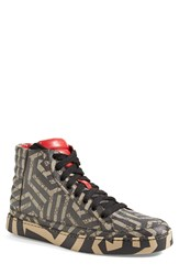 Gucci 'Common' High Top Sneaker Men Beige Ebony Nero Leather