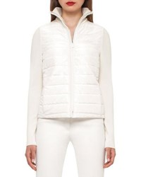 Akris Hannelore Quilted Puffer Jacket Moonstone