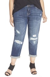Plus Size Women's Lucky Brand 'Reese' Boyfriend Distressed Jeans