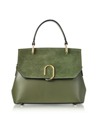 Le Parmentier Handbags Thais Suede And Leather Satchel Bag