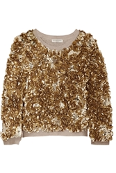Burberry Sequined Wool And Cashmere Blend Sweater