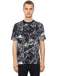 Lanvin Camouflage Printed Cotton Jersey T Shirt Grey