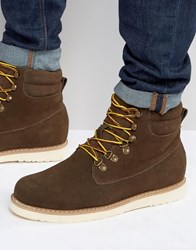 Bellfield Noma Nubuck Laceup Boots Brown