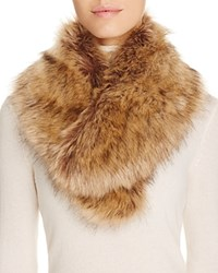 Cara Accessories Faux Fur Collar Tan