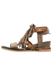 A.S.98 Punch Wedge Sandals Rena Green