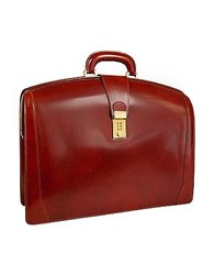 Pratesi Brunelleschi Italian Leather Briefcase Dark Brown