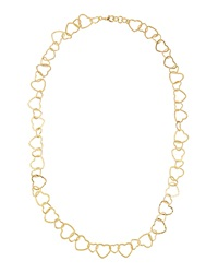 Peter M Gold Plated Heart Link Necklace